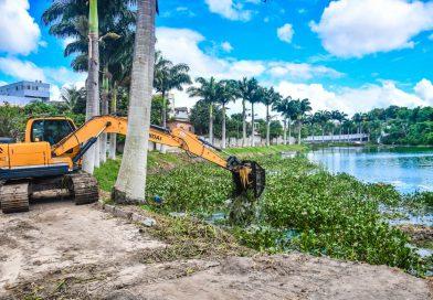 Iniciada a segunda etapa de limpeza das lagoas urbanas do município